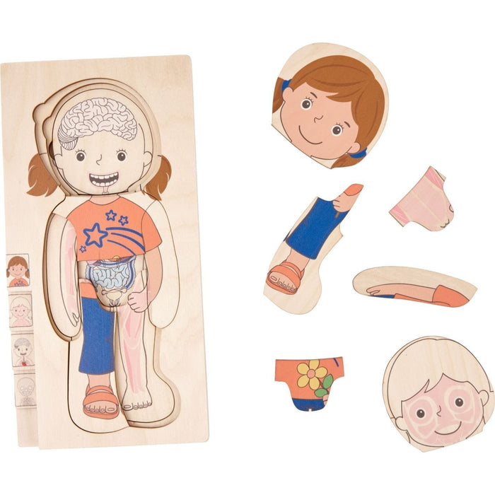 The Nestery: Haba Toys - Know Your Body Puzzle - Boy & Girl