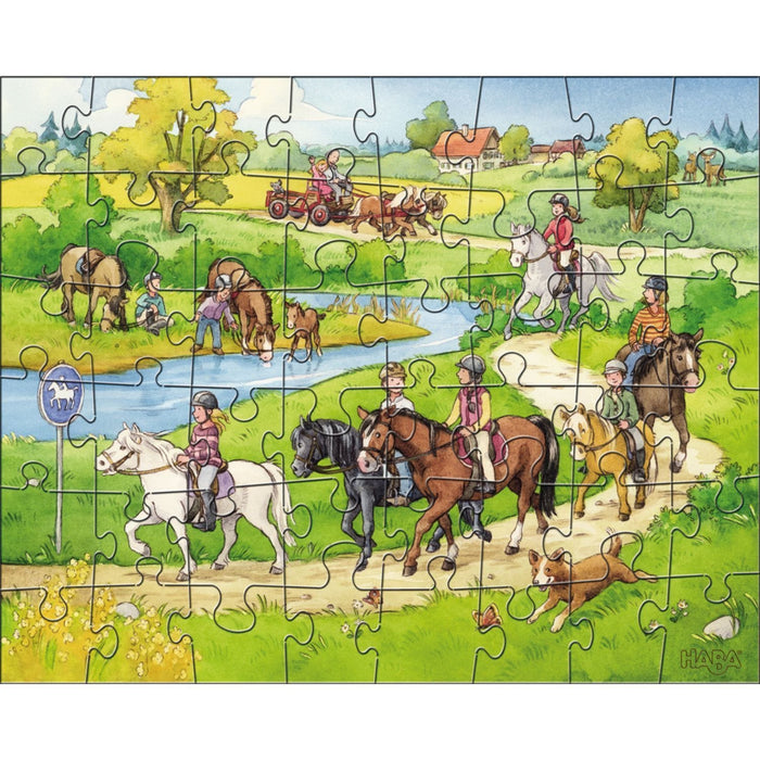 The Nestery: Haba - Jigsaw Puzzle - Horse Farm