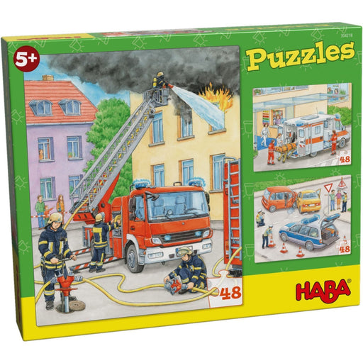The Nestery: Haba - Jigsaw Puzzle - Emergency Vehicles