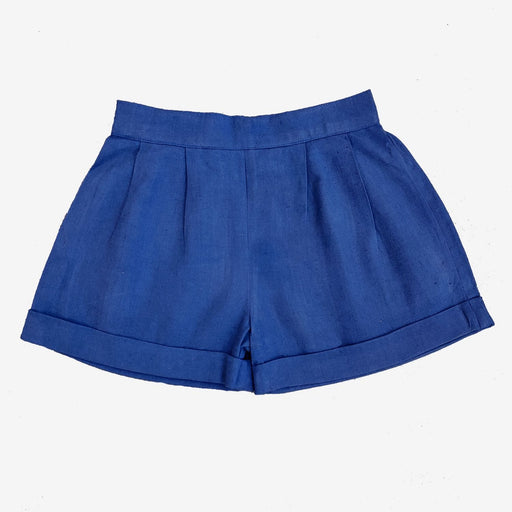 The Nestery : Ikeda Designs - flared shorts - Dark Blue