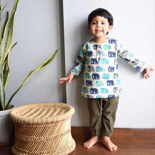 The Nestery : Ikeda Designs - Short Kurta - Elephant