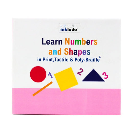 The Nestery: Inklude - Numbers And Shapes In Print, Tactile & Poly-Braille®