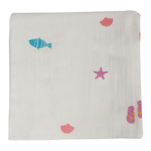 The Nestery : Itsyboo - Beach Theme Muslin Swaddle