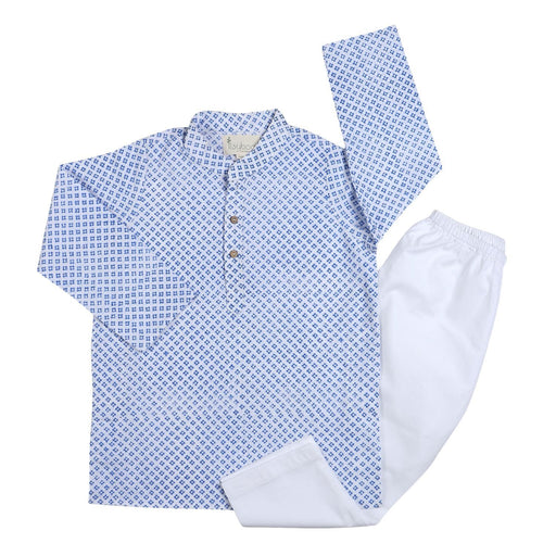 The Nestery : Itsyboo - Kurta Pajama Set - Blue Block