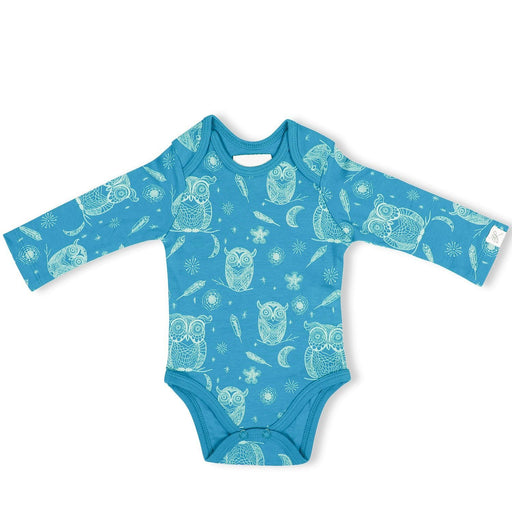 The Nestery : Itsyboo By Watermelon - Full Sleeve Onsie - Hoot Hoot Owl