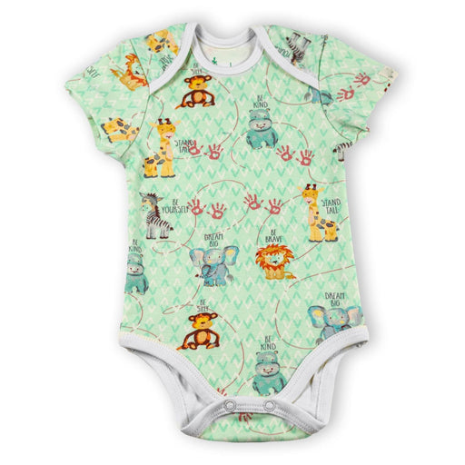 The Nestery : Itsyboo By Watermelon - Half Sleeve Onsie - Jungle Jive