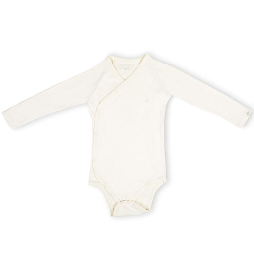 The Nestery : Itsyboo By Watermelon - Kimono Full Sleeve Onsie - Chalk White