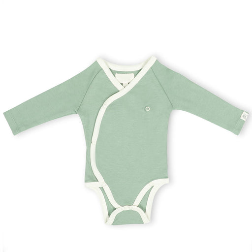 The Nestery : Itsyboo By Watermelon - Kimono Full Sleeve Onsie - Sage Green