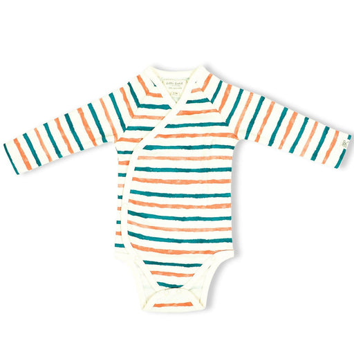 The Nestery : Itsyboo By Watermelon - Kimono Full Sleeve Onsie - Stripe Hype