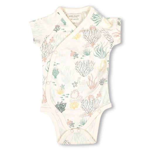 The Nestery : Itsyboo By Watermelon - Kimono Half Sleeve Onsie - Under Water World