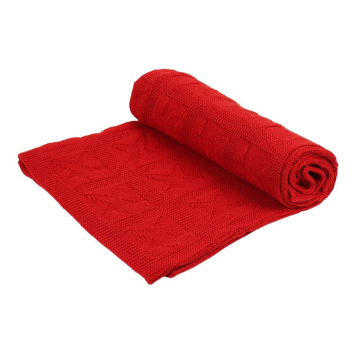 The Nestery : Itsyboo - Knit Blanket- Red Star