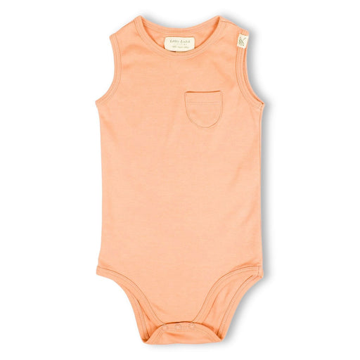 The Nestery : Itsyboo By Watermelon - Sleeveless Onsie - Coral Blush