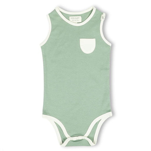 The Nestery : Itsyboo By Watermelon - Sleeveless Onsie - Sage Green