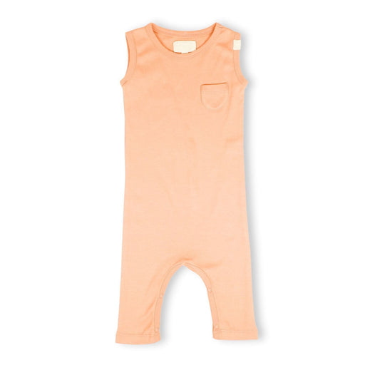 The Nestery : Itsyboo By Watermelon - Sleeveless Romper - Coral Blush