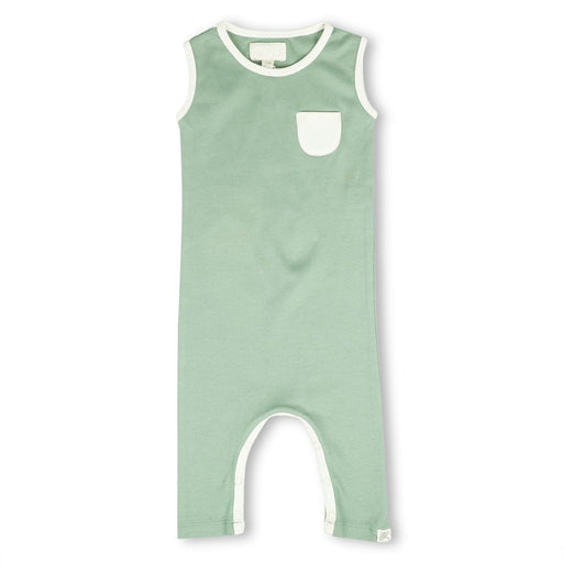 The Nestery : Itsyboo By Watermelon - Sleeveless Romper - Sage Green
