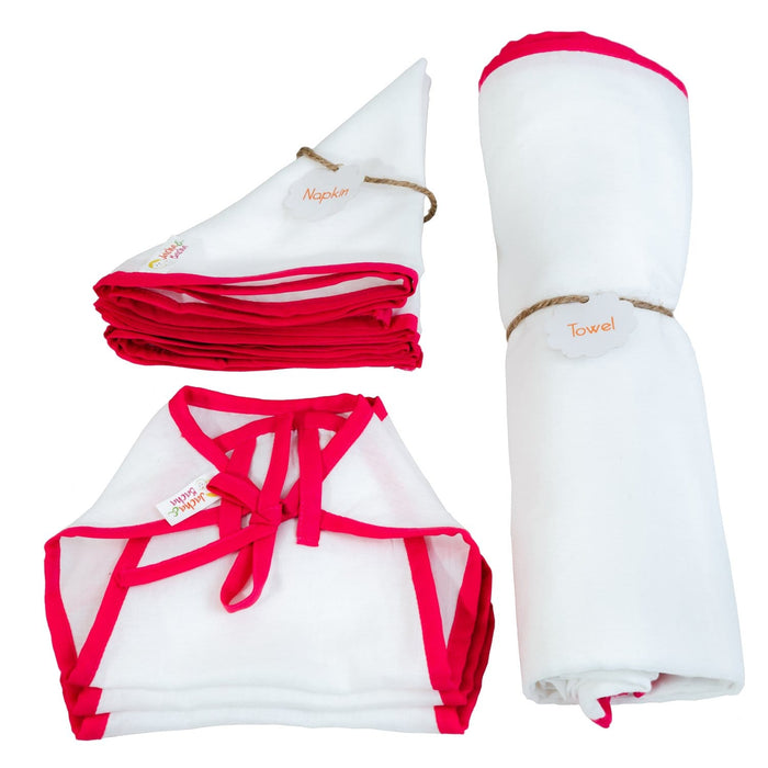 Pure Soft Dhoti Cotton Gifts Sets For Newborn - Pink