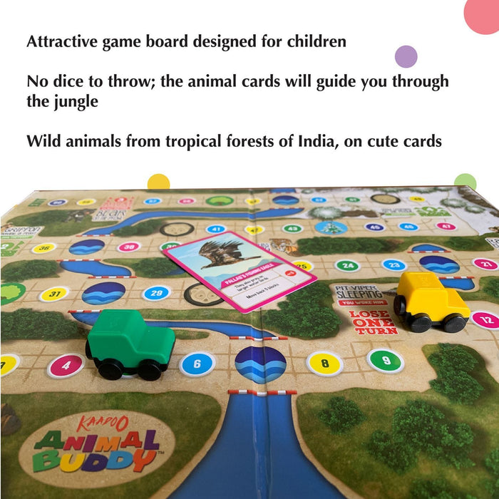 Animal Buddy Bhutan Jungle Discovery - Play & Learn Board Game For Kids 4+ & Family