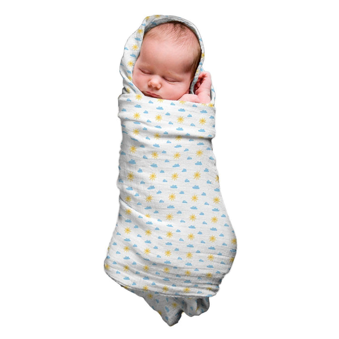Cotton Muslin Swaddle - Sunny Day
