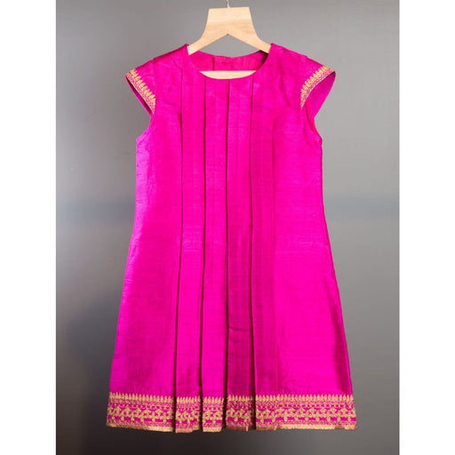 The Nestery : Khela - Box Pleat Dress - Pink