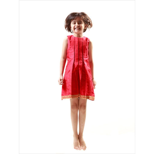 The Nestery : Khela - Box Pleat Dress - Red