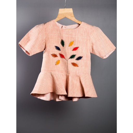 The Nestery : Khela - Peplum Top With Divided Skirt - Tree Of Life