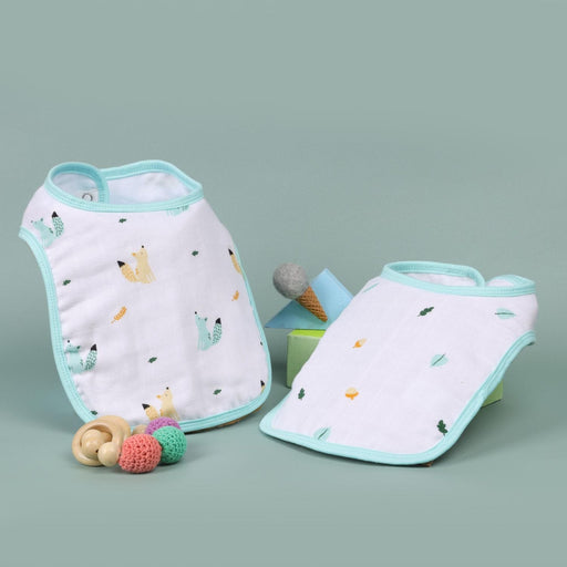 The Nestery : Kicks & Crawl - Baby Squirrel - Organic Round Bibs (Pack Of 2)