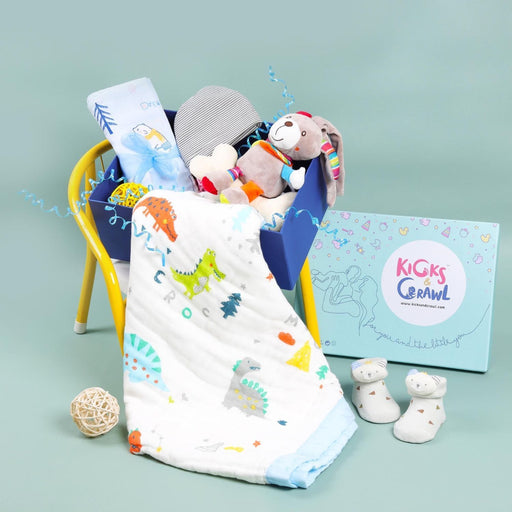 The Nestery : Kicks & Crawl - Boys Love At First Sight - Essentials Hamper