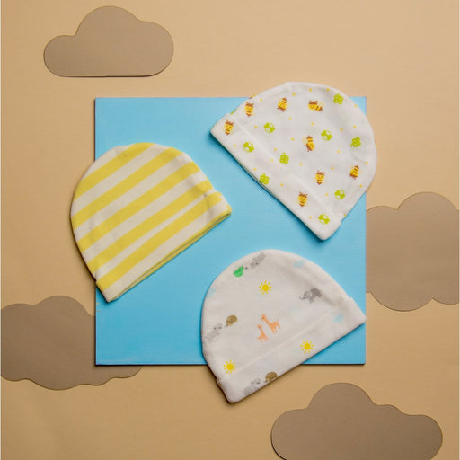 The Nestery : Kicks & Crawl - Cap - Honey Bees (Pack Of 3)