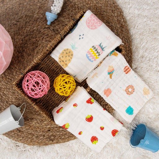 The Nestery : Kicks & Crawl - Cotton Wash Cloth - Sweet Baby
