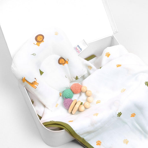 The Nestery : Kicks & Crawl - Forest Friends - Organic Baby Pillow