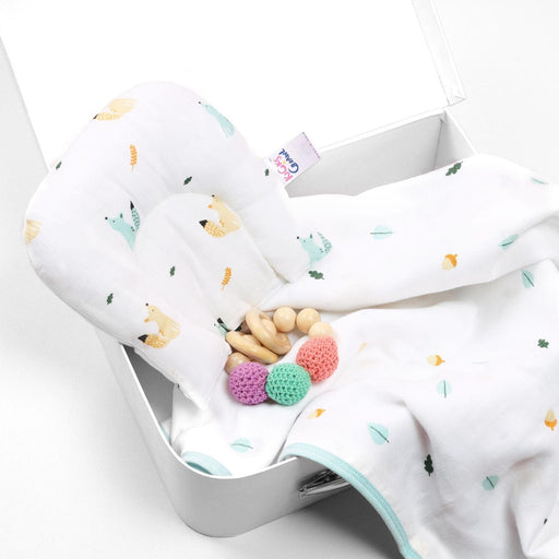The Nestery : Kicks & Crawl - Friendly Squirrel - Organic Baby Pillow