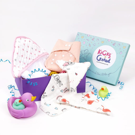 The Nestery : Kicks & Crawl - Girls Bubbling - Baby Bathing Hamper