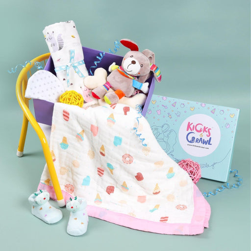 The Nestery : Kicks & Crawl - Girls Love At First Sight - Essentials Hamper