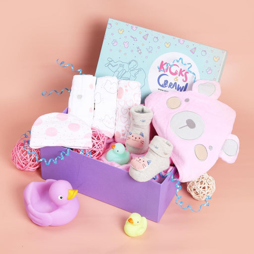 The Nestery : Kicks & Crawl - Girls Tubs And Bubs - Bathing Hamper
