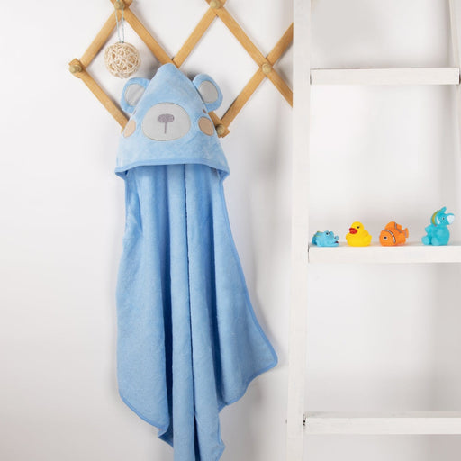 The Nestery : Kicks & Crawl - Hooded Towel - Blue Bear