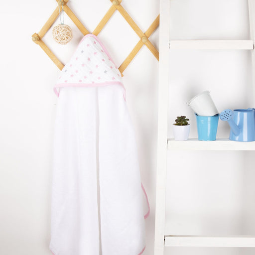 The Nestery : Kicks & Crawl - Muslin Hooded Towel - Baby Stars