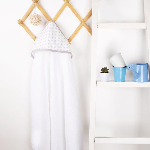 The Nestery : Kicks & Crawl - Muslin Hooded Towel - Star And Shine