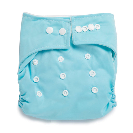 The Nestery : Kicks & Crawl - Reusable Cloth Diaper - Baby Blue