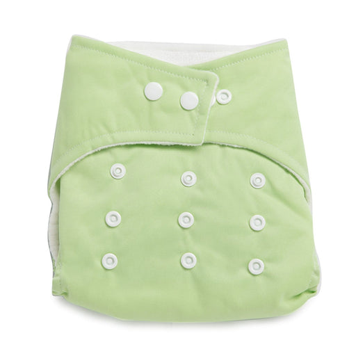 The Nestery : Kicks & Crawl - Reusable Cloth Diaper - Green