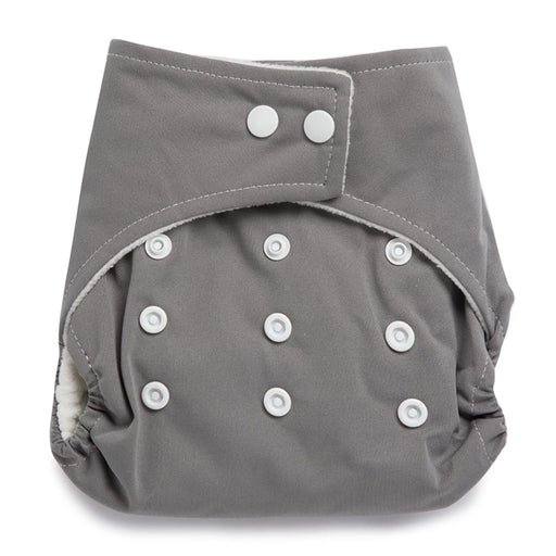The Nestery : Kicks & Crawl - Reusable Cloth Diaper - Grey