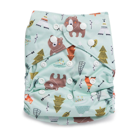 The Nestery : Kicks & Crawl - Reusable Diaper - Fun In Forest