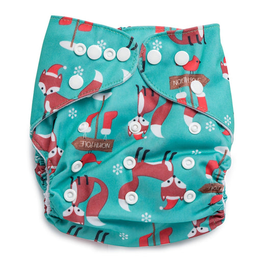 The Nestery : Kicks & Crawl - Reusable Diaper - North Pole