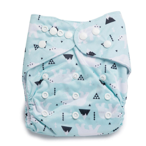 The Nestery : Kicks & Crawl - Reusable Diaper - Snowy Bear