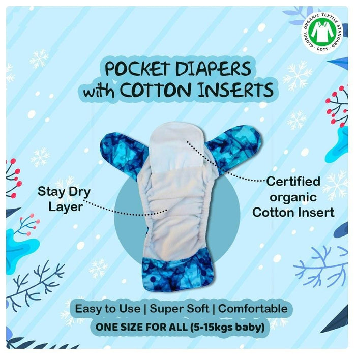 The Nestery: Kindermum - Aqua  - Nano Pocket Diaper