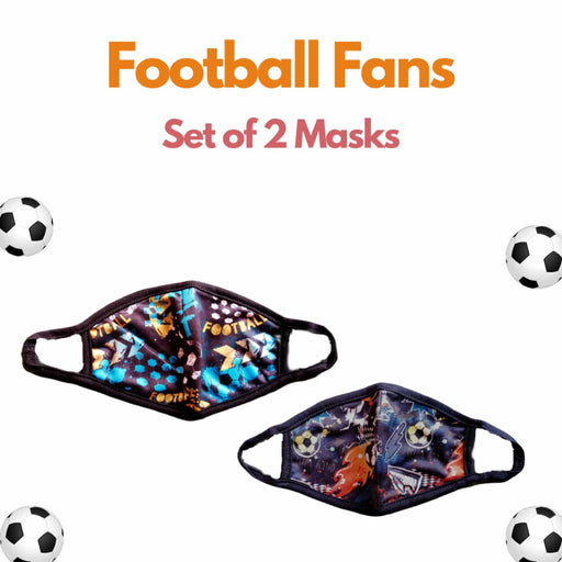 The Nestery : Kindermum - Football Fans Kids Mask - Set of 2