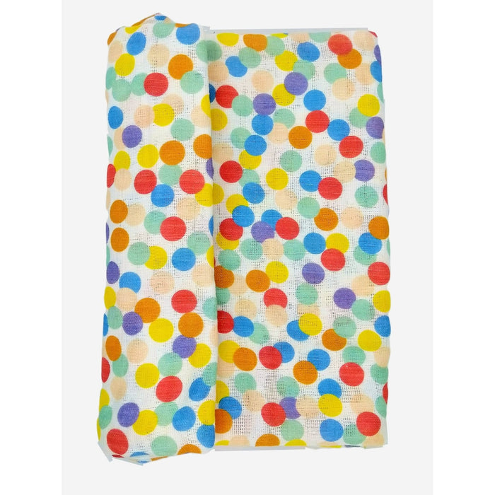 The Nestery : Kindermum - Muslin Swaddle Blanket Large (Set of 2) - Colorful Polka and Whale