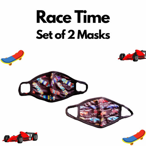 The Nestery : Kindermum - Race Time Kids Mask - Set of 2