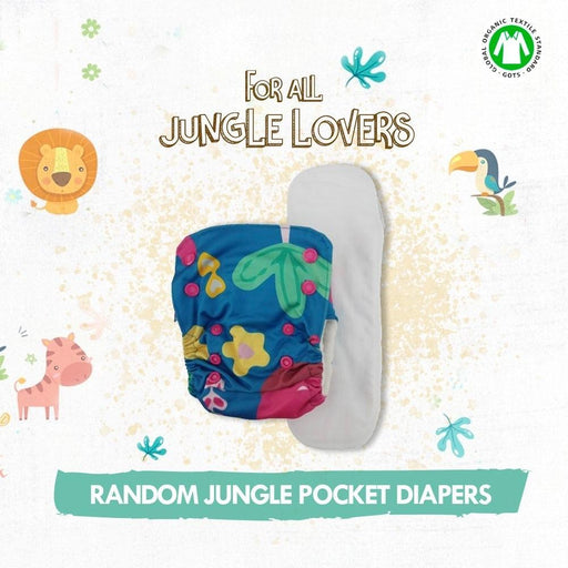The Nestery: Kindermum - Random Jungle - Nano Pocket Diaper