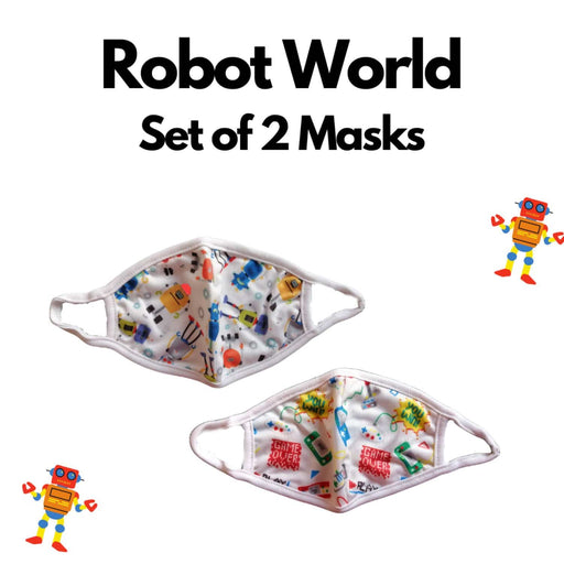 The Nestery : Kindermum - Robot World Kids Mask - Set of 2