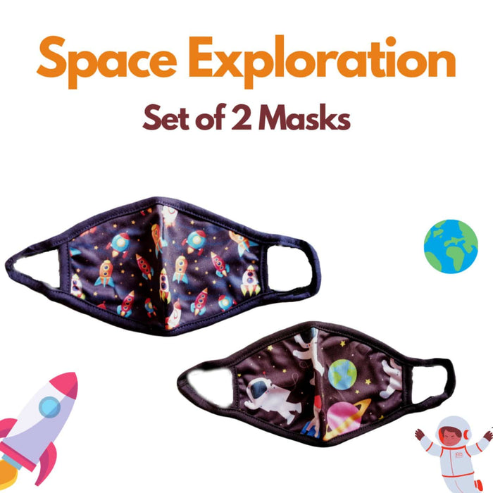 The Nestery : Kindermum - Space Exploration Kids Mask - Set of 2